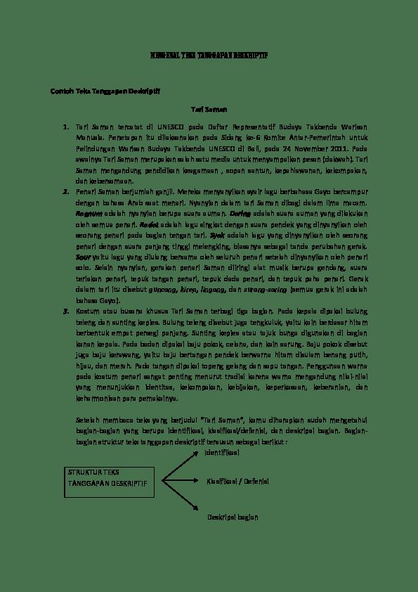 Deskripsi Tentang Tari Saman : deskripsi, tentang, saman, MENGENAL, TANGGAPAN, DESKRIPTIF, Ramali, Academia.edu