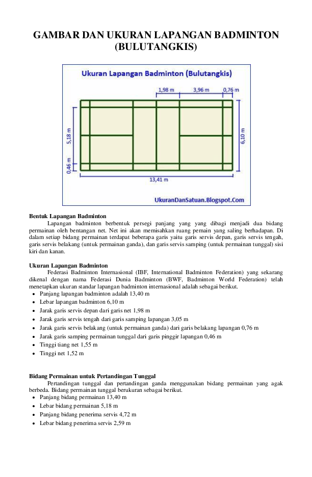 Gambar Lapangan Batminton : gambar, lapangan, batminton, GAMBAR, UKURAN, LAPANGAN, BADMINTON, (BULUTANGKIS, Hermansyah, Sihombing, Academia.edu