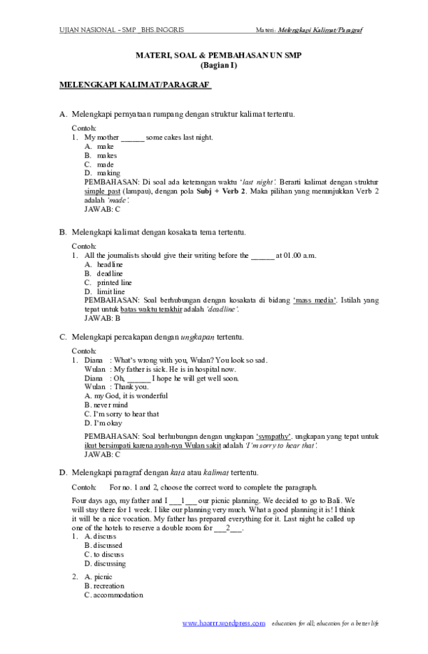 Contoh Soal Melengkapi Kalimat Rumpang : contoh, melengkapi, kalimat, rumpang, Bahasa, Inggris, Melengkapi, Kalimat, Soalna, Dubai, Khalifa