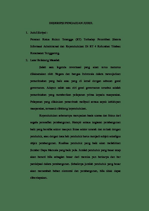 Contoh Skripsi Deskriptif : contoh, skripsi, deskriptif, DESKRIPSI, PENGAJUAN, JUDUL, Ricky, Endra, Saputra, Academia.edu