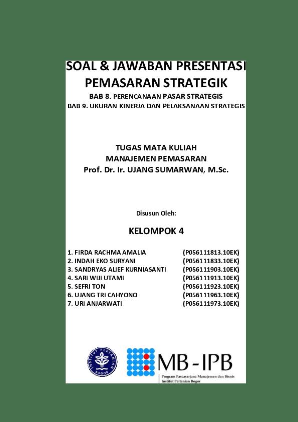 Contoh Soal Dan Jawaban Tentang Marketing Mix Jawaban Buku Cute766