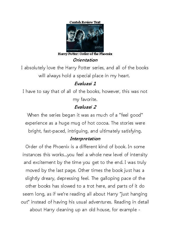 Contoh Review Text Film : contoh, review, Contoh, Review, Harry, Potter:, Order, Phoenix, Ghina, Alfisyah, Academia.edu