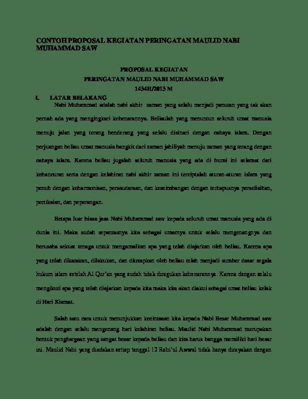 Contoh Proposal Maulid Nabi Saw Pdf : contoh, proposal, maulid, CONTOH, PROPOSAL, KEGIATAN, PERINGATAN, MAULID, MUHAMMAD, Academia.edu