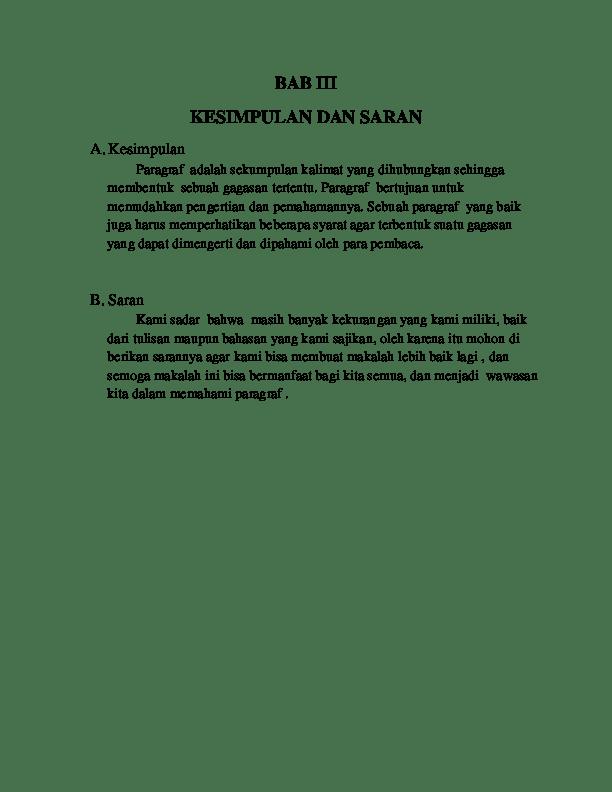 Contoh Saran Pada Makalah : contoh, saran, makalah, Contoh, Makalah, Bagian, Kesimpulan, Saran, Berbagai, Cute766