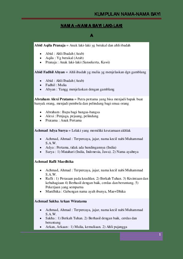 Arti Nama Aldebaran : aldebaran, KUMPULAN, NAMA-NAMA, –NAMA, LAKI-LAKI, Imdadur, Rohman, Academia.edu