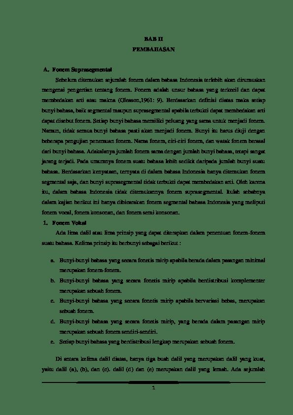 Fonem Dalam Bahasa Indonesia : fonem, dalam, bahasa, indonesia, Fonem, Suprasegmental, Handi, Academia.edu