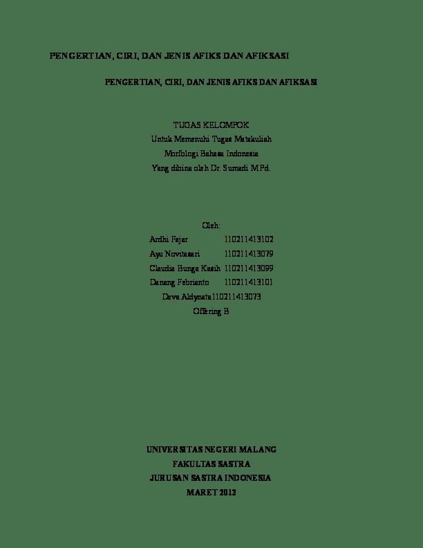Contoh Afiksasi : contoh, afiksasi, PENGERTIAN,, CIRI,, JENIS, AFIKS, AFIKSASI, Abdun, Academia.edu