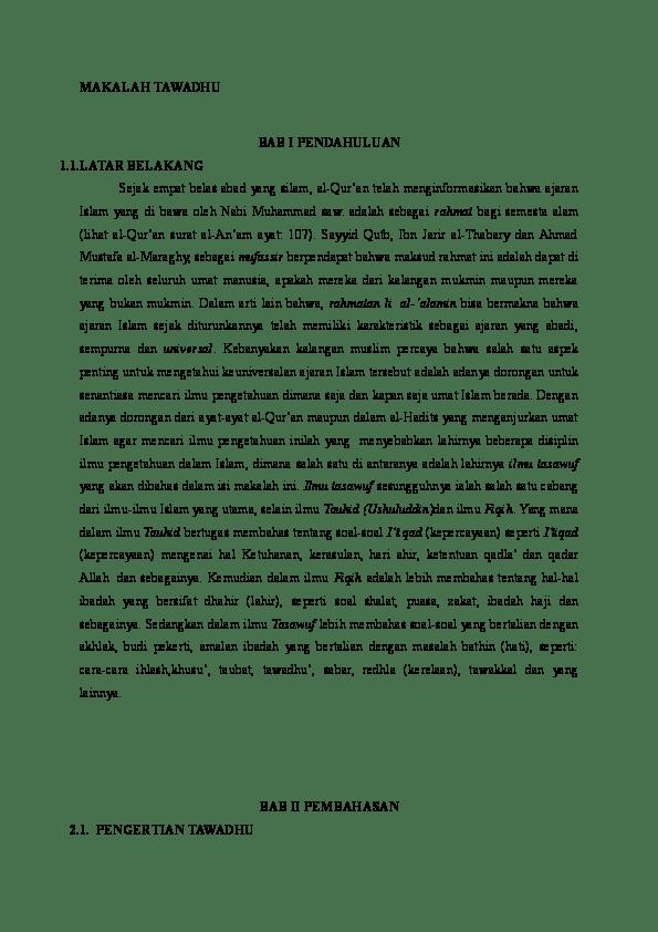 Pengertian Tawadhu Dan Contohnya : pengertian, tawadhu, contohnya, MAKALAH, TAWADHU, Lidin, Academia.edu