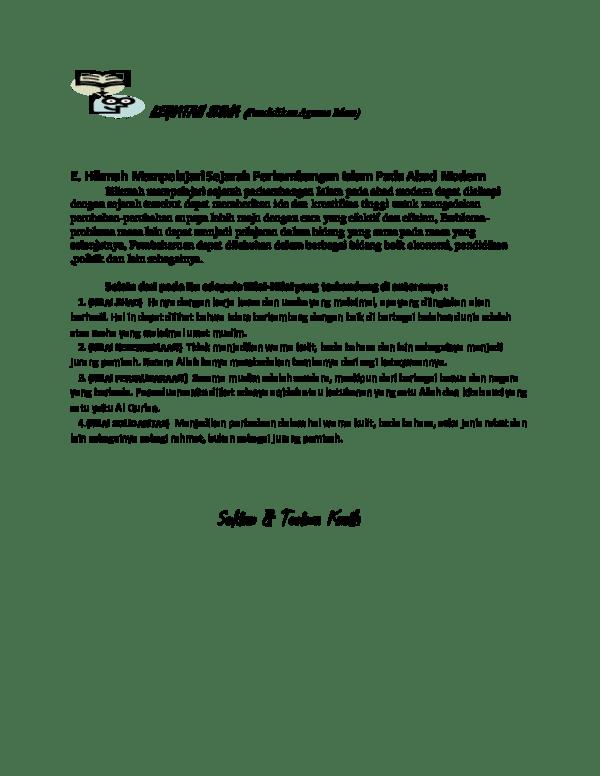 Hikmah Mempelajari Sejarah Perkembangan Islam Pada Masa Modern : hikmah, mempelajari, sejarah, perkembangan, islam, modern, KEGIATAN, SISWA, (Pendidikan, Agama, Islam, Suardi, Academia.edu