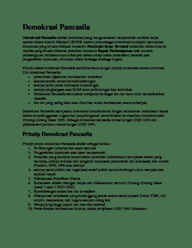 Nilai Moral Yang Terkandung Dalam Demokrasi Pancasila Bersumber Dari : nilai, moral, terkandung, dalam, demokrasi, pancasila, bersumber, Demokrasi, Pancasila, Yahyas, Academia.edu