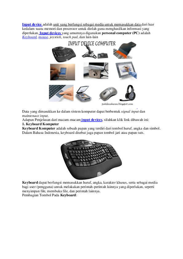 Perangkat Input Komputer Adalah : perangkat, input, komputer, adalah, Perangkat, Input, Output, Hafiz, Academia.edu