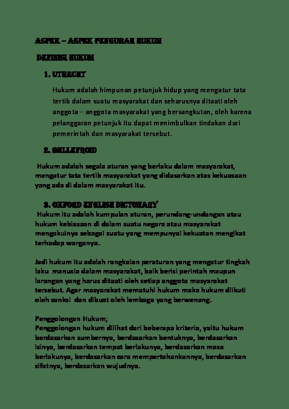 Hukum Berdasarkan Sumbernya : hukum, berdasarkan, sumbernya, ASPEK, PENGUBAH, HUKUM, Cakung, Academia.edu
