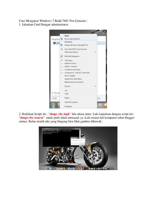 Cara Mengatasi Windows 7 Build 7601 This Copy Of Windows Is Not Genuine : mengatasi, windows, build, genuine, Mengatasi, Windows, Build, Genuine, Shinobi, Academia.edu