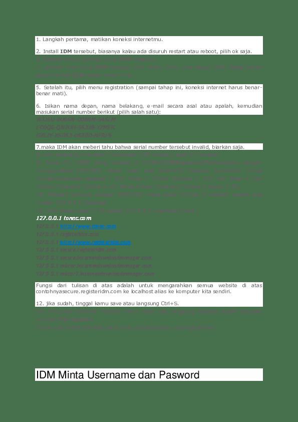 Idm Minta Serial Number : minta, serial, number, Registrasi, Ocktavianti, Academia.edu