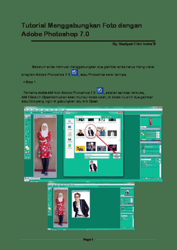 Menggabungkan Gambar Di Photoshop : menggabungkan, gambar, photoshop, Tutorial, Menggabungkan, Dengan, Adobe, Photoshop, Nadiyah, Fibri, Indra'S, Nadya, Indra's, Academia.edu