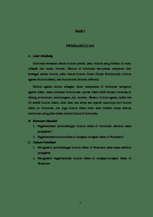 Sejarah Singkat Kerajaan Islam Di Indonesia : sejarah, singkat, kerajaan, islam, indonesia, Perkembangan, Hukum, Islam, Kerajaan, Nusantara, Lathifah, Abdul, Muluk, Academia.edu