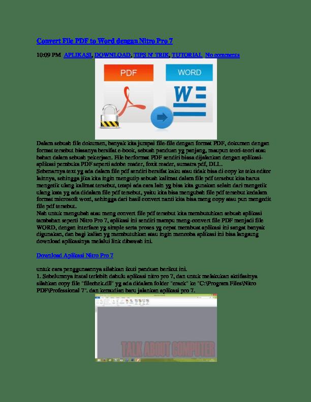 Cara Kompres File Pdf Dengan Nitro Pro 10 : kompres, dengan, nitro, Convert, Dengan, Nitro, Ramanda, Putra, Academia.edu