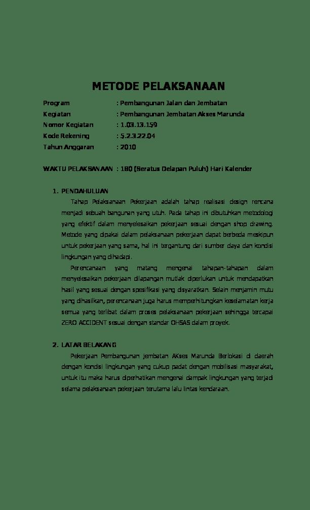 Download PDF - Metode Pelaksanaan Pekerjaan Jalan