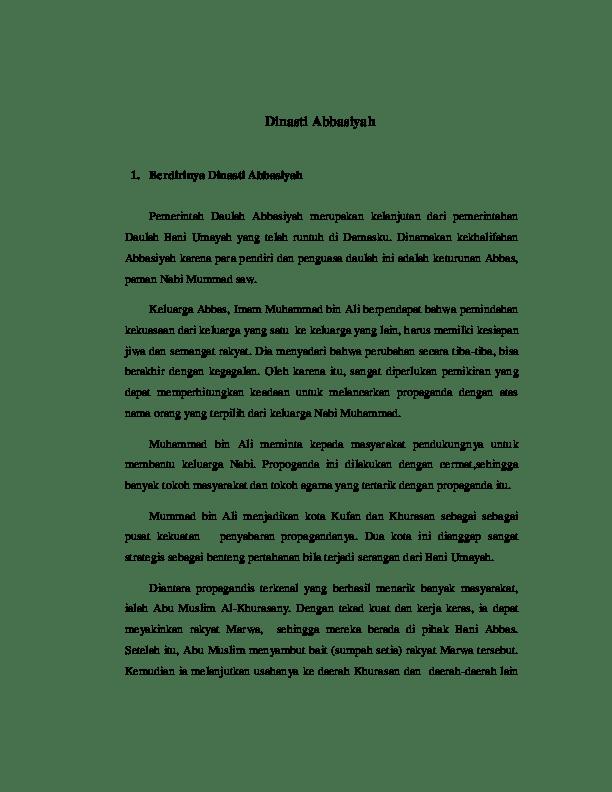 Proses Berdirinya Dinasti Abbasiyah : proses, berdirinya, dinasti, abbasiyah, Dinasti, Abbasiyah, Berdirinya, Academia.edu