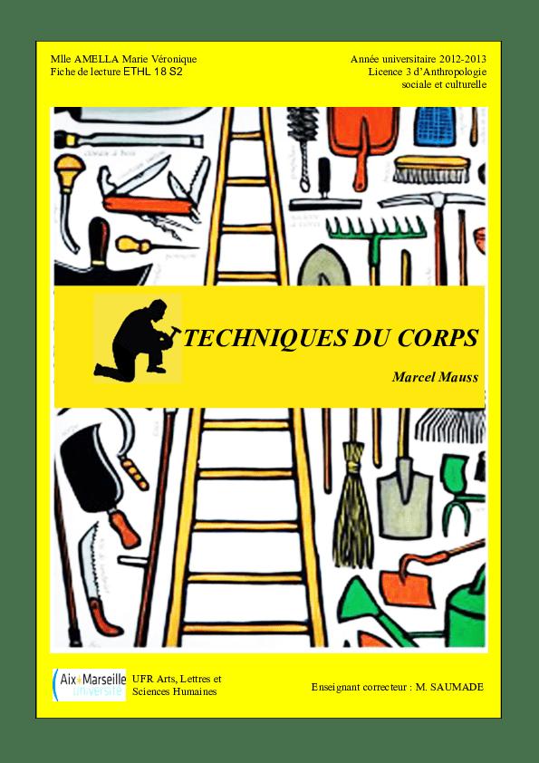 Marcel Mauss Les Techniques Du Corps : marcel, mauss, techniques, corps, Dossier, Licence,