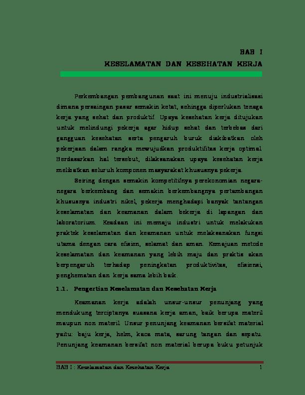 Unsur Unsur Penunjang Keselamatan Kerja : unsur, penunjang, keselamatan, kerja, Keselamatan, Kesehatan, Kerja, Academia.edu
