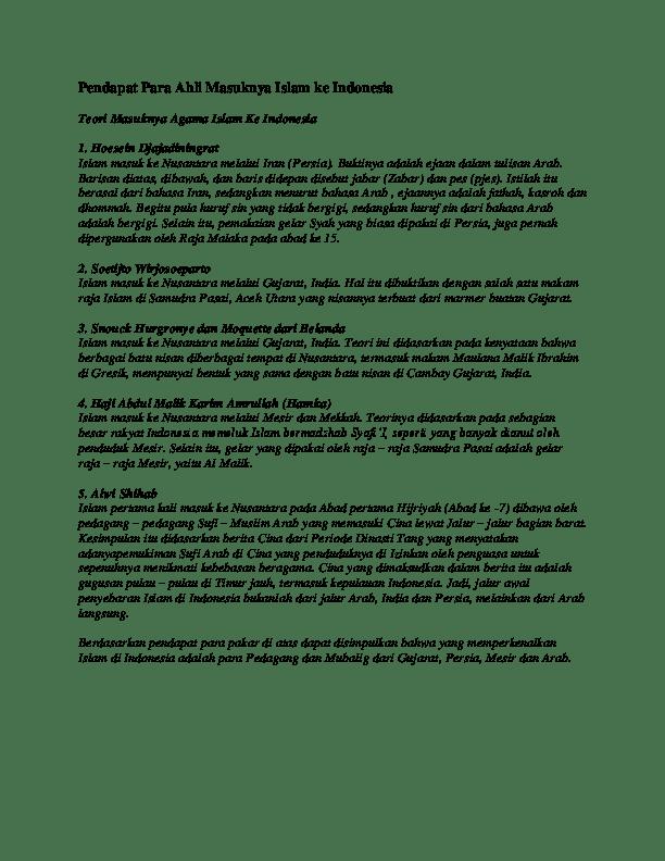 4 Teori Masuknya Islam Ke Indonesia : teori, masuknya, islam, indonesia, Sebutkan, Jelaskan, Teori, Masuknya, Islam, Indonesia