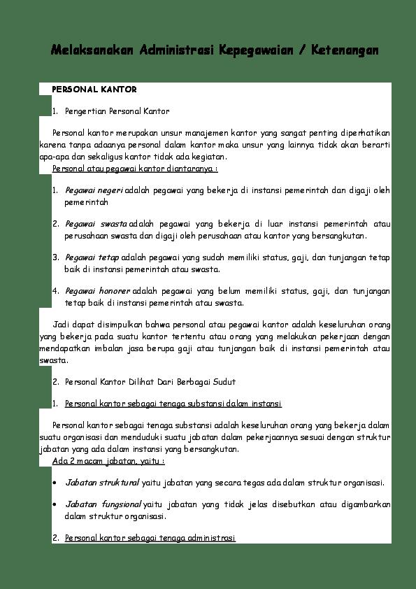 Syarat Syarat Pegawai Kantor : syarat, pegawai, kantor, Administrasi, Perkantoran, Puteri, Wulandari, Academia.edu