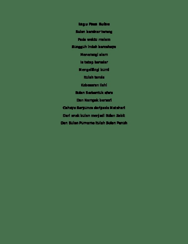 Teks Lagu Bulan Sabit : bulan, sabit, Lirik, Bulan, Saaidin, Academia.edu