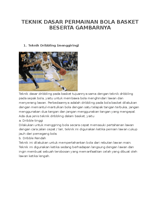 Teknik Teknik Dasar Permainan Bola Basket : teknik, dasar, permainan, basket, TEKNIK, DASAR, PERMAINAN, BASKET, BESERTA, GAMBARNYA, Awanis, Shabrina, Academia.edu