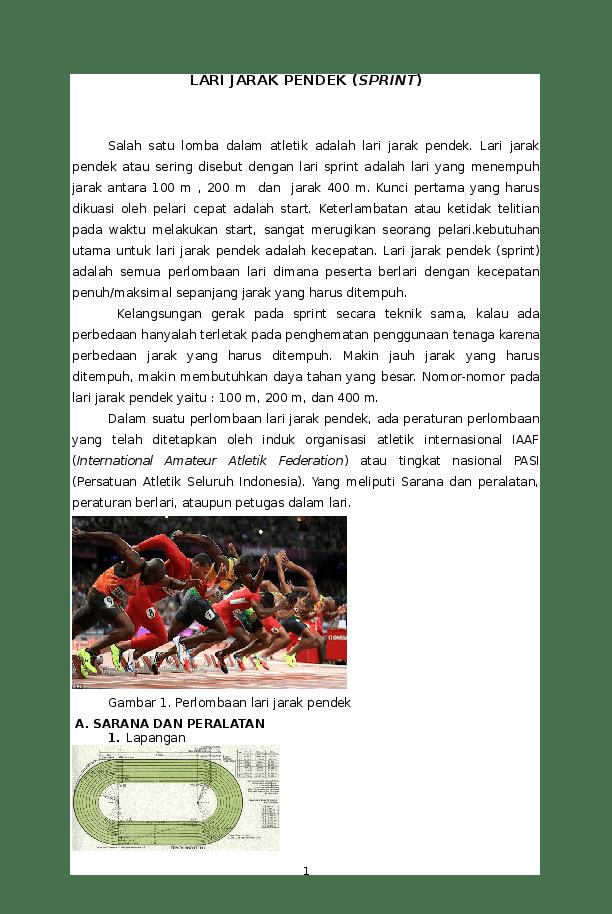 Lari Jarak Pendek : jarak, pendek, Jarak, Pendek, Sprint, Alfurqon, Academia.edu