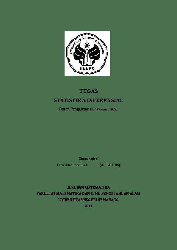 08/09/2021· kunci jawaban buku teknik teknik statistika dalam bisnis dan ekonomi : Doc Soal Dan Pembahasan Statistika Inferensial Dian Insani Academia Edu