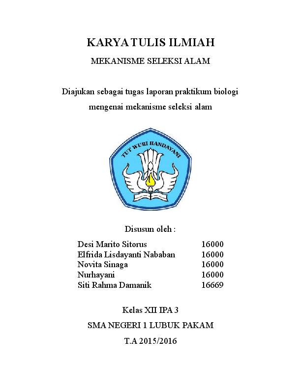 Karya Tulis Ilmiah Biologi Kelas 10 Jurnal Doc Cute766