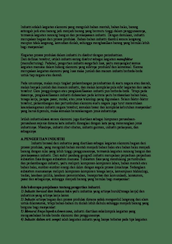 Bahan Yang Dibutuhkan Perusahaan Untuk Menghasilkan Produk Kerajinan Disebut : bahan, dibutuhkan, perusahaan, untuk, menghasilkan, produk, kerajinan, disebut, Industri, Adalah, Kegiatan, Ekonomi, Mengolah, Bahan, Mentah, Resky, Pratama, Academia.edu