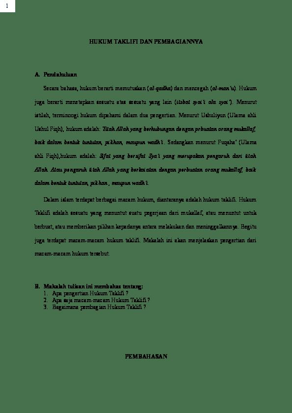 Apa Yang Dimaksud Dengan Hukum Taklifi : dimaksud, dengan, hukum, taklifi, Hukum, Taklifi, Pembagiannya, Andhyka, Academia.edu