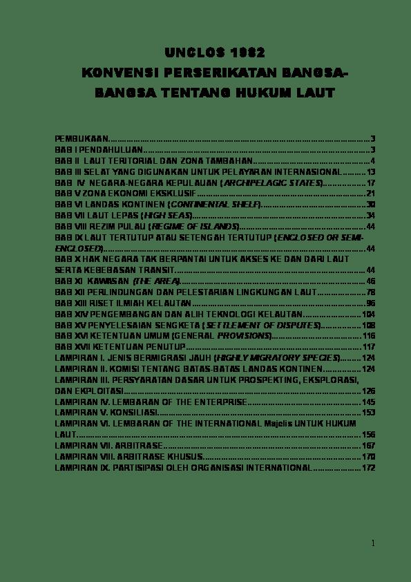 Isi Konvensi Hukum Laut Internasional Tahun 1982 : konvensi, hukum, internasional, tahun, UNCLOS, KONVENSI, PERSERIKATAN, BANGSA-BANGSA, TENTANG, HUKUM, Anjing, Academia.edu