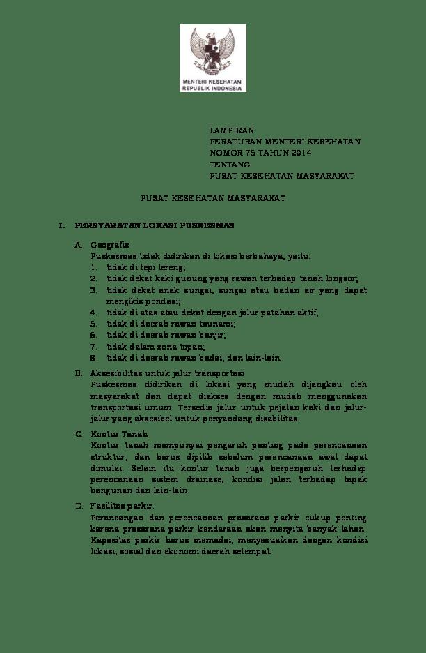 Permenkes Nomor 75 Tahun 2014 : permenkes, nomor, tahun, Lampiran, Permenkes, Tahun, Tentang, Puskesmas, Kamal, Amiruddin,, Academia.edu
