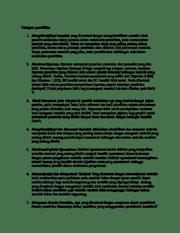 Apa Yang Dimaksud Variabel : dimaksud, variabel, Tahapan, Penelitian, Rizal, Academia.edu