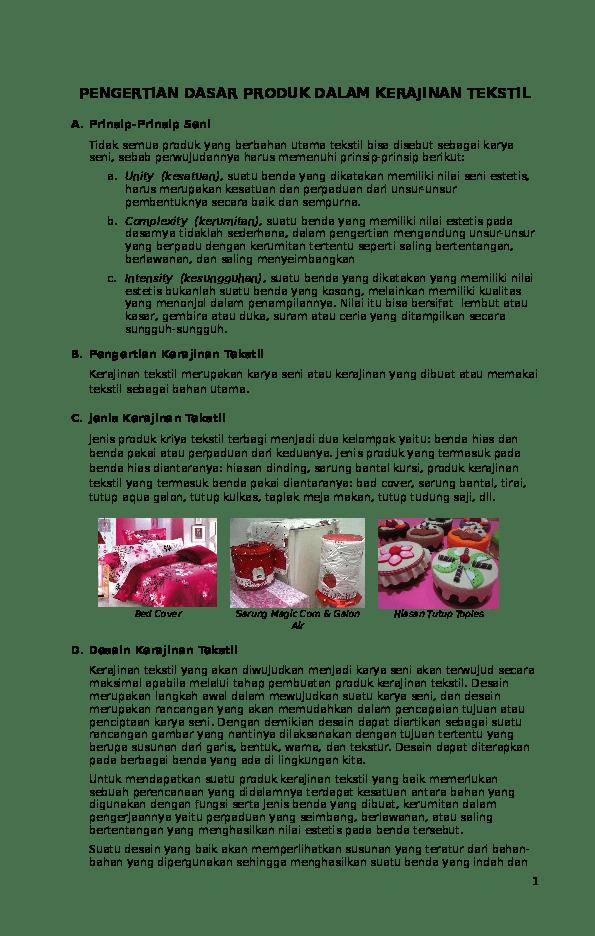Apa Yang Dimaksud Dengan Kerajinan Tekstil : dimaksud, dengan, kerajinan, tekstil, 1-konsep-dasar-kerajinan-tekstil, Ganteng, Academia.edu