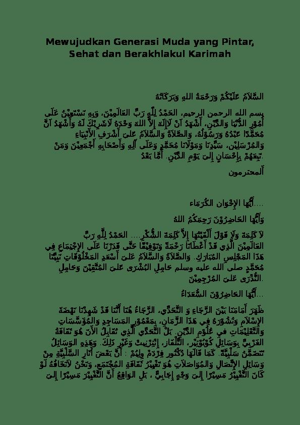 Pidato Bahasa Arab Singkat Dan Artinya Tentang Akhlak : pidato, bahasa, singkat, artinya, tentang, akhlak, Pidato, Bahasa, Tentang, Akhlakul, Karimah, Berbagai, Penting