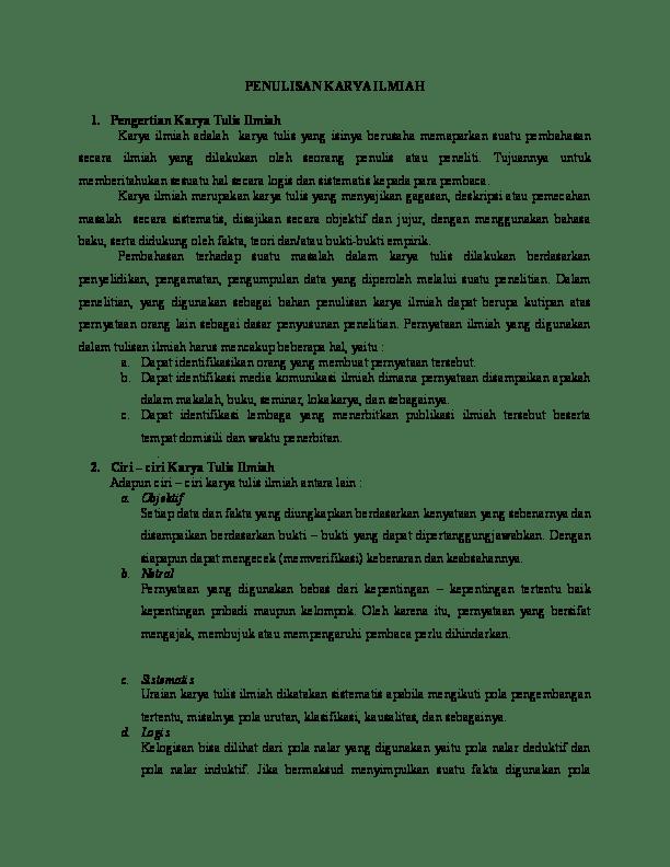 Kerangka Karya Tulis Yang Benar : kerangka, karya, tulis, benar, Kerangka, Karya, Ilmiah, Benar