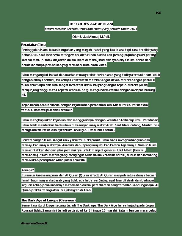 Perkembangan Islam Di Eropa Saat Ini : perkembangan, islam, eropa, Golden, Islam, Arief, Munandar, Academia.edu