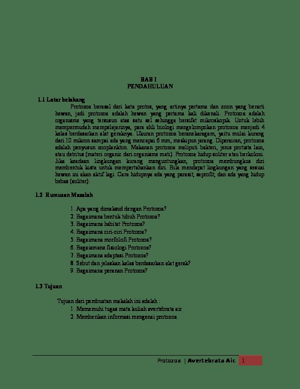 Peranan Protozoa Bagi Kehidupan : peranan, protozoa, kehidupan, Avertebrata, Protozoa, Ulfah, Maisyaroh, Academia.edu