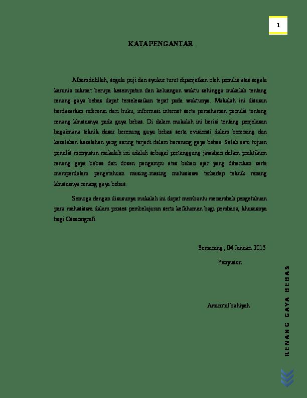 Materi Tentang Renang Gaya Bebas : materi, tentang, renang, bebas, Renang, Bebas, Amirotul, Bahiyah, Academia.edu