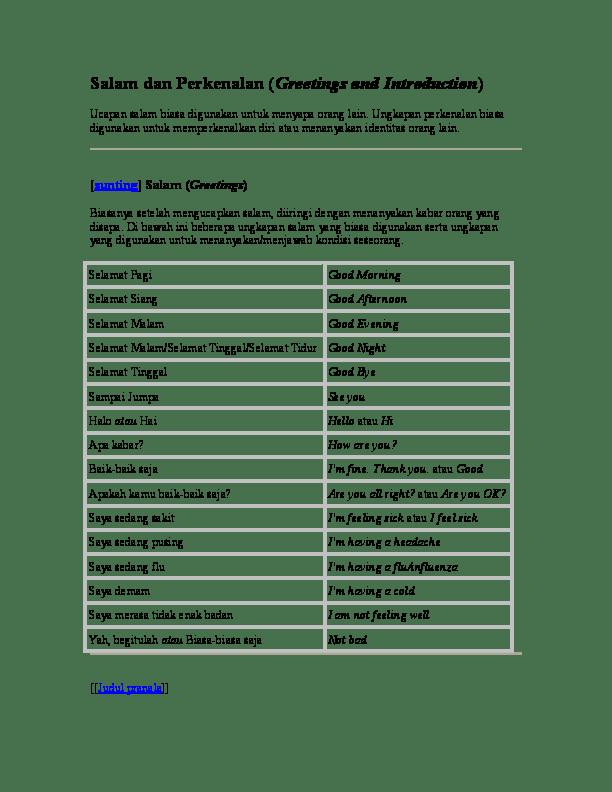 Bahasa Inggris Menyapa : bahasa, inggris, menyapa, Contoh, Percakapan, Menyapa, Dalam, Bahasa, Inggris, Barisan
