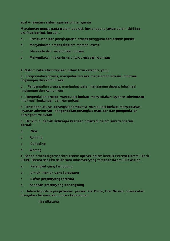Contoh Soal Pilihan Ganda Security Pilihan Ganda 50 Soal Metode Pengamanan Komputer Yang Terdiri Dari Database Security Data Security Dan Device Security Ada Pada Gilbert Humphries