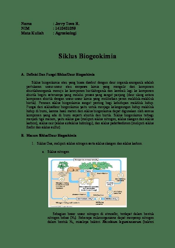 Daur Biogeokimia Nitrogen : biogeokimia, nitrogen, Biogeokimia, Jerry, Ramadhan, Academia.edu