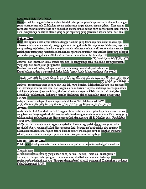 Ayat Yang Menjelaskan Tentang Zina : menjelaskan, tentang, Ceramah, Tentang, Kurnia, Hidayat, Syufri, Academia.edu