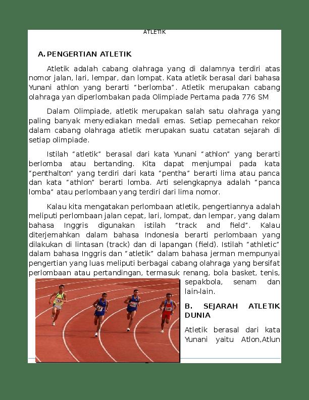 Peraturan Permainan Atletik : peraturan, permainan, atletik, MAKALAH, OLAHRAGA, ATLETIK, Asyarota, Academia.edu