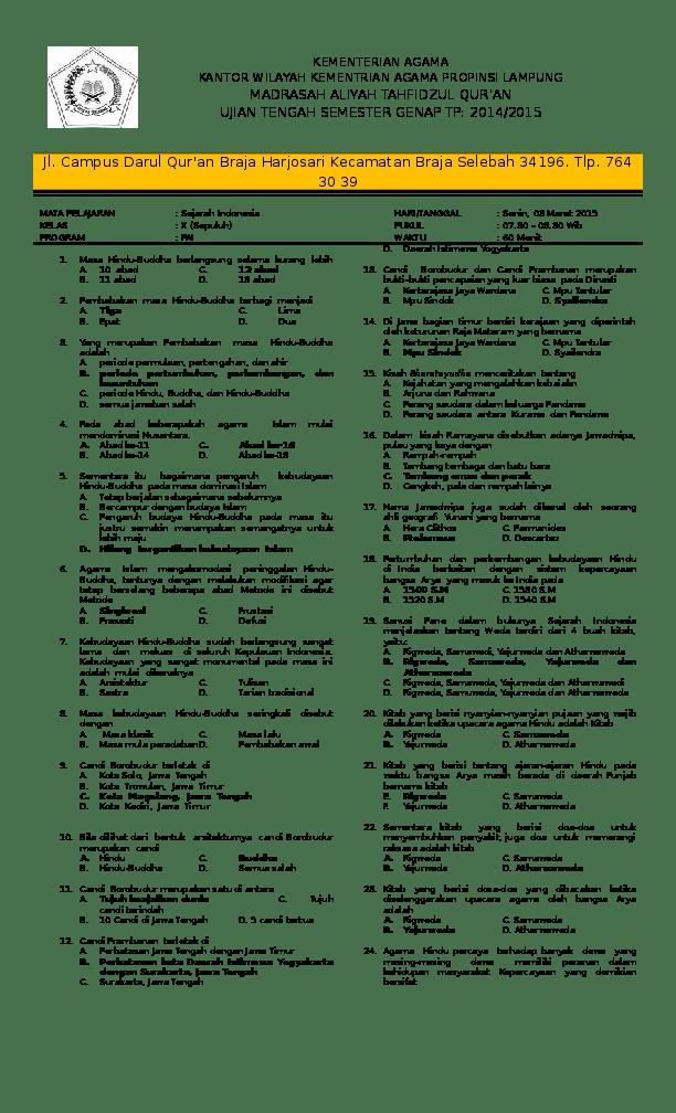 Pelajaran Sejarah Indonesia Kelas 10 : pelajaran, sejarah, indonesia, kelas, JAWABAN, SEJARAH, INDONESIA, KELAS, SEMESTER, Syaiful, Islami, Academia.edu