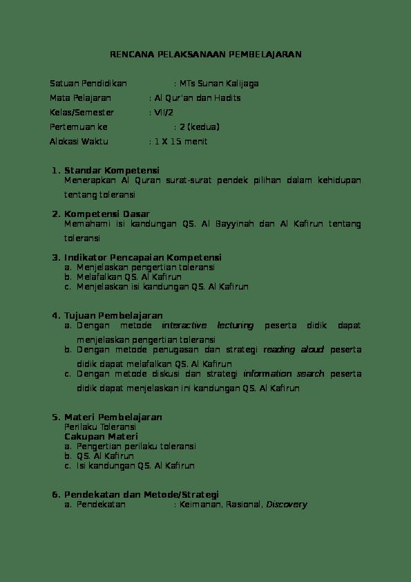 Penjelasan Surat Al Kafirun : penjelasan, surat, kafirun, Tentang, Toleransi, Beragama, Kafirun, Ahmad, Riyanto, Academia.edu